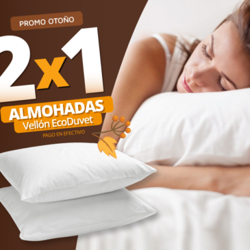Almohadas De Vellón Siliconado Eco Duvet 70 x 40  (combo 2 unidades)